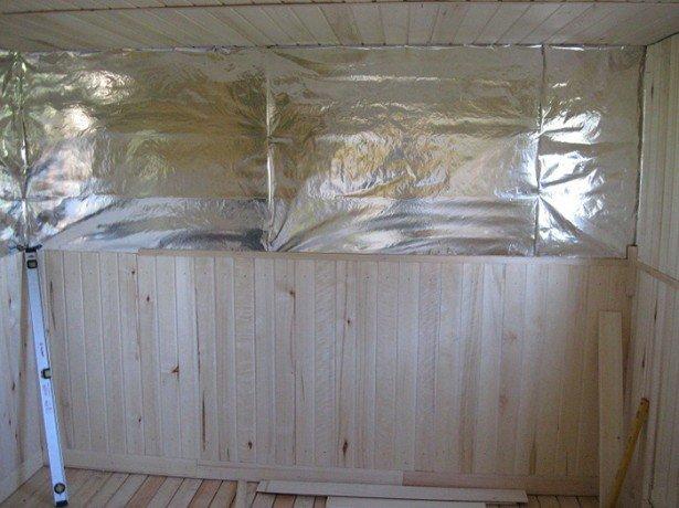 утепление стен в бане фотография