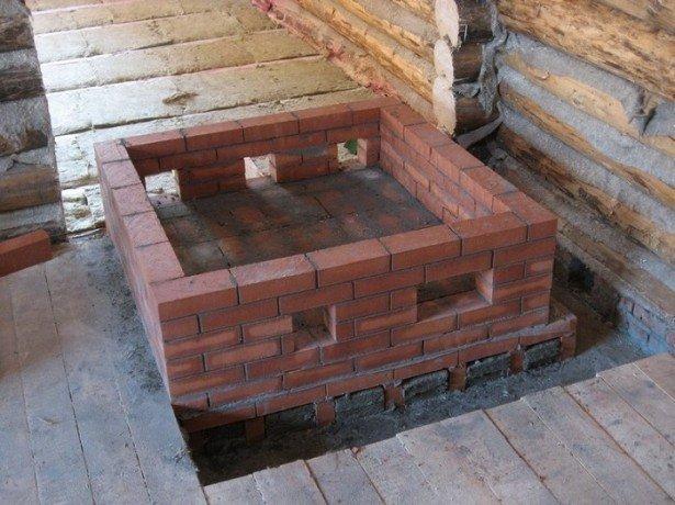 Фото фундамента под банную печь