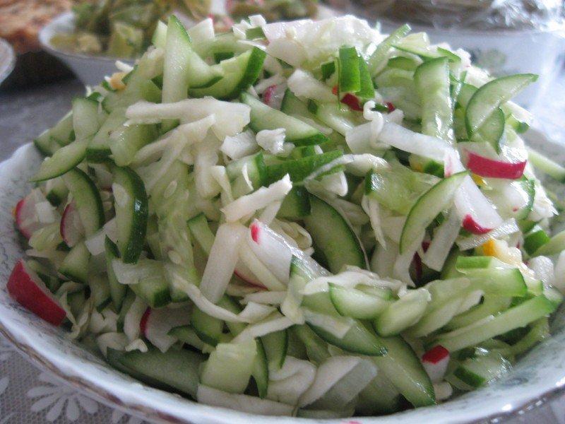 Салат из свежей капусты с фото