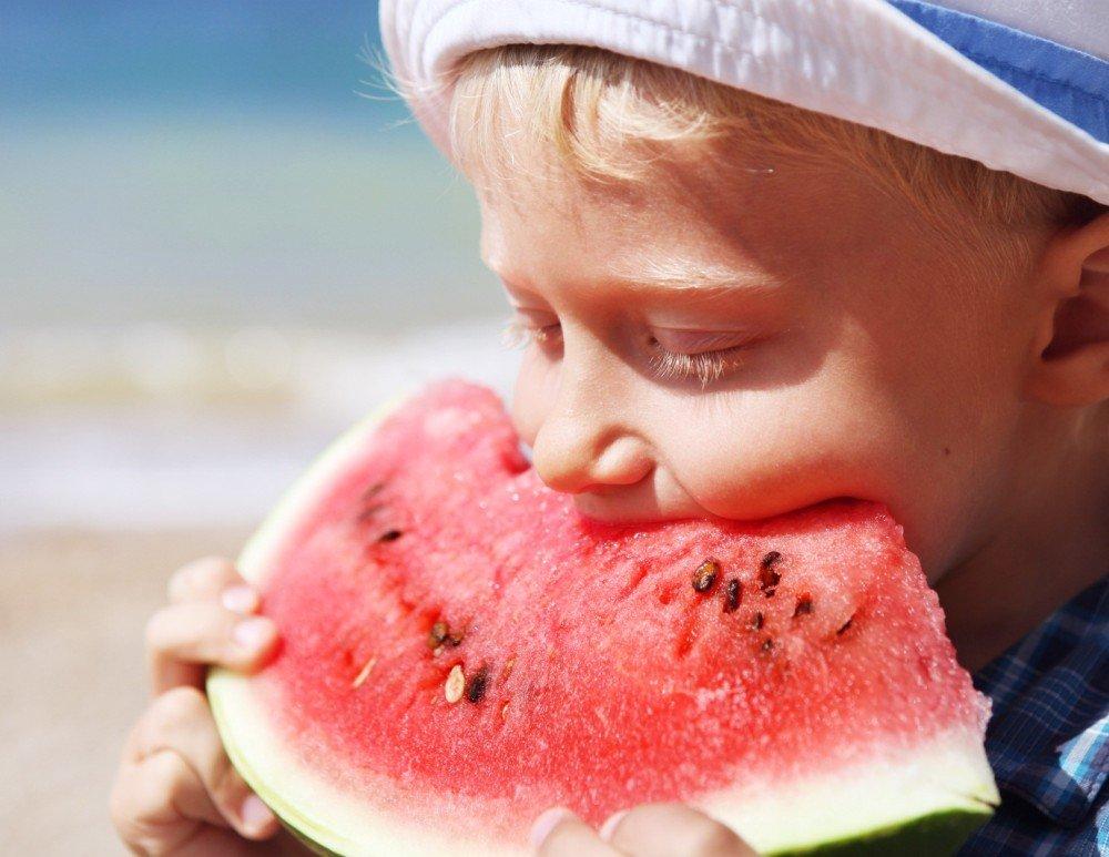 child-watermelon