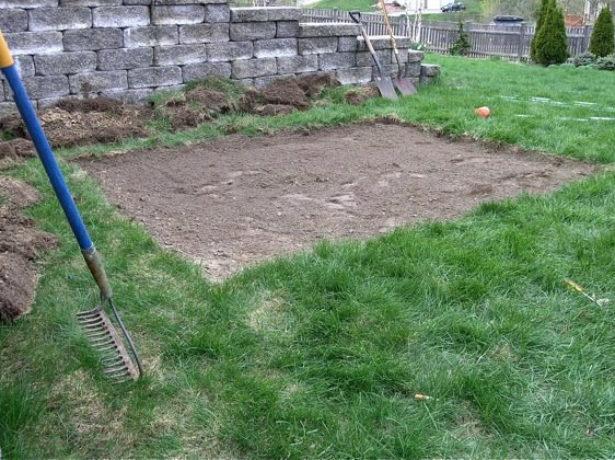 Подготовка участка для установки песочницы