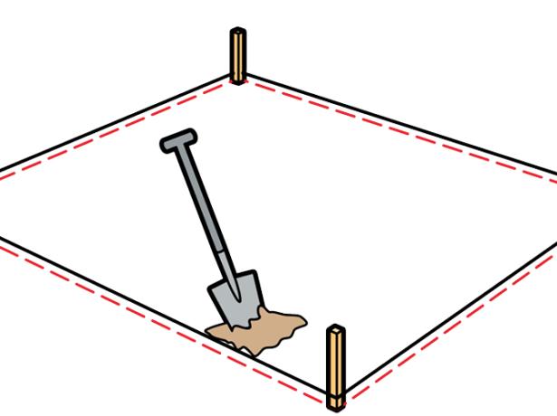 Разметка под катлован песочницы