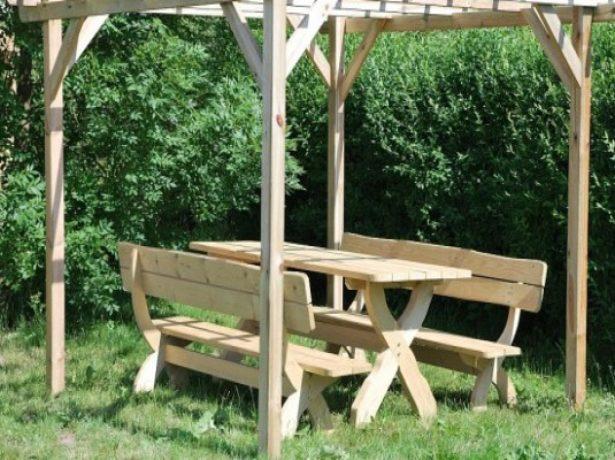 Готовый деревянный каркас шатра