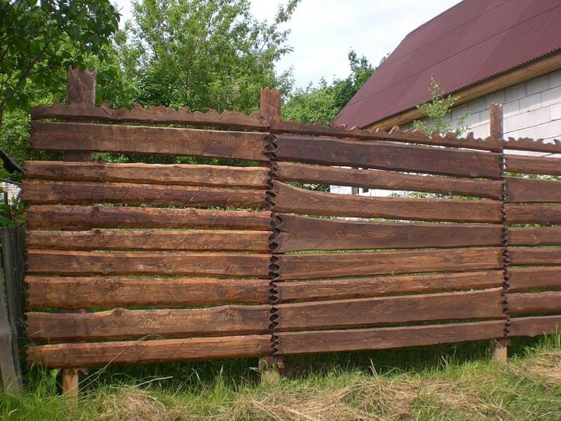 Забор из дуба своими руками 96