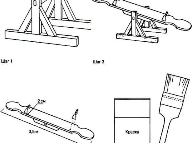 Пошаговая инструкция изготовления качели-балансир