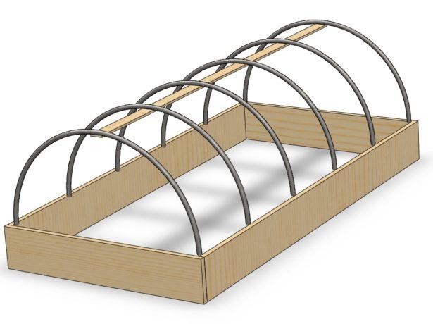 Схема парника с деревянным основанием