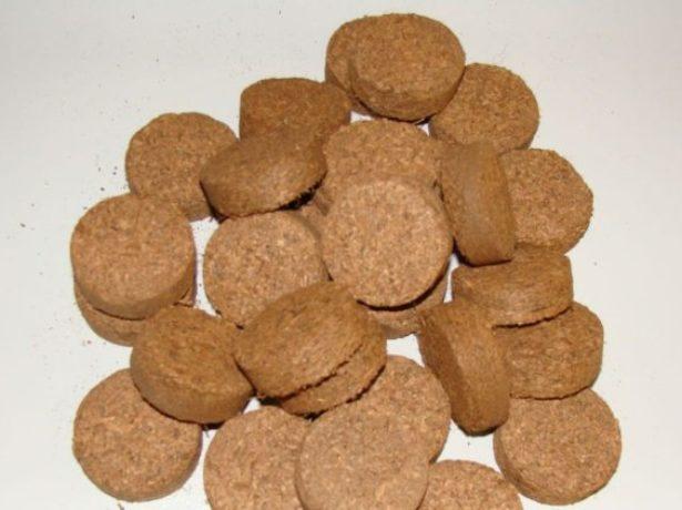Таблетки из кокосового торфа без оболочки