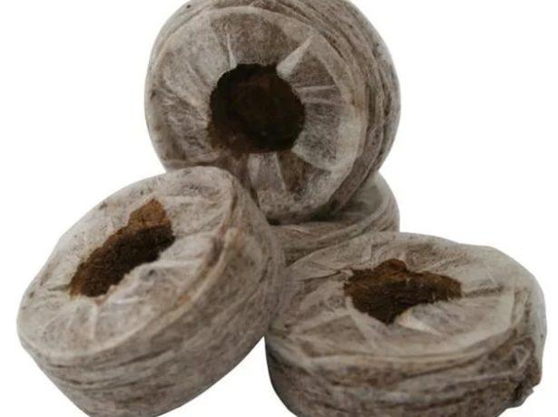 Таблетки из кокосового субстрата в оболочке