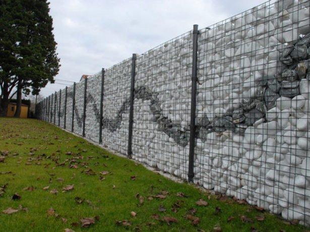 Ограда из габионов