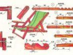Чертёж-схема для изготовления шезлонга из ткани