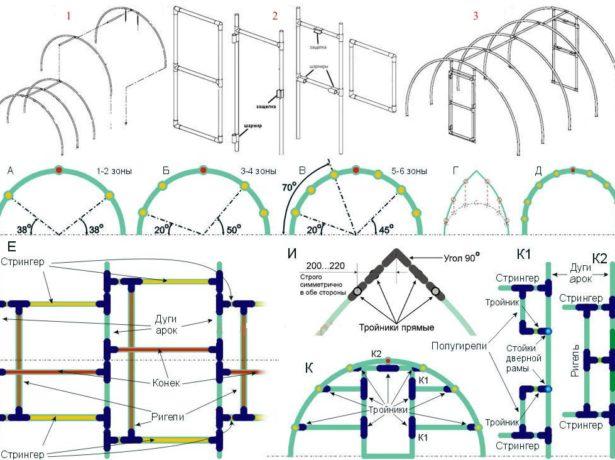 Схема сборки каркаса и дверей