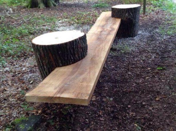 Удобная и лаконичная скамья, выполненная своими руками
