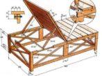 Схема для шезлонга из деревянного материала