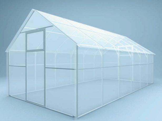 Проект теплицы с двускатной крышей