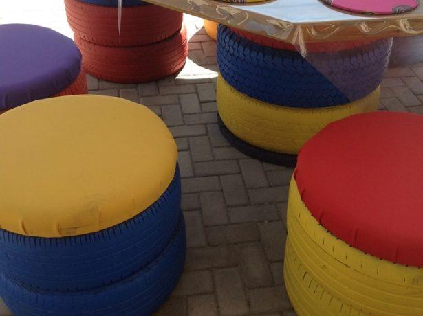 tires garden furniture