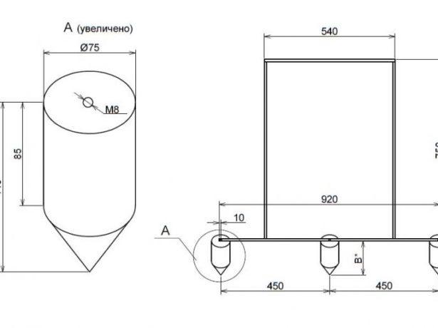 Схема изготовления маркёра для разметки грядки