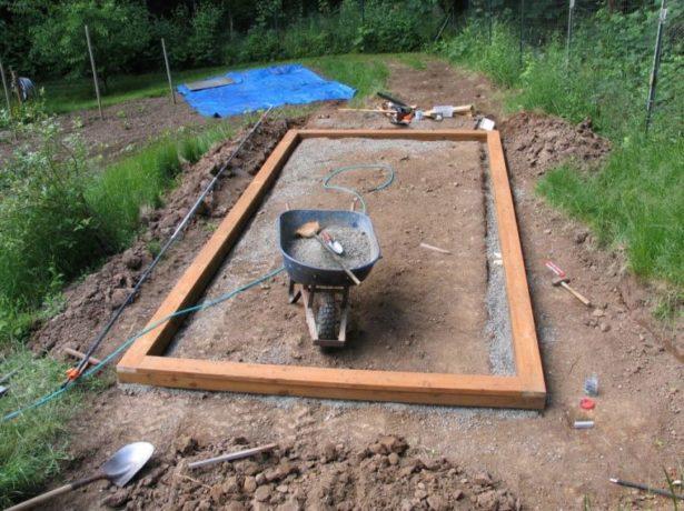 Строительство деревянного фундамента