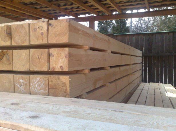 Деревянный брус 150x150 мм