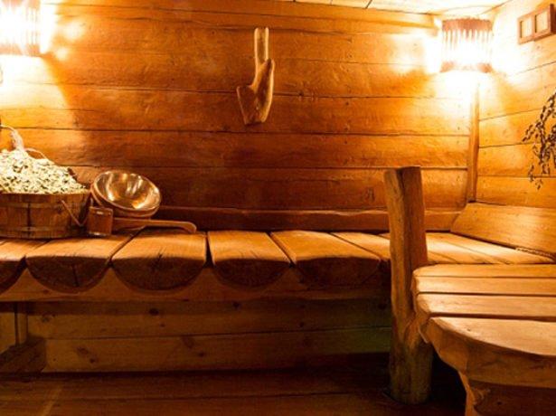 Русская баня без внутренней отделки