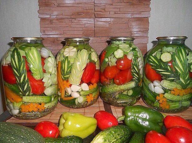 забавное овощное ассорти