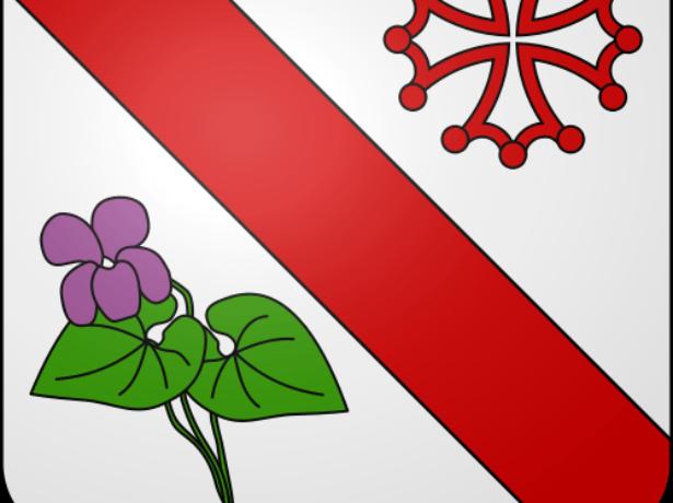 Герб Сент-Альбан с изображением фиалки