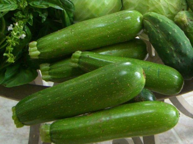 Зелёные кабачки