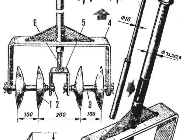 Схема для изготовления ручного окучника