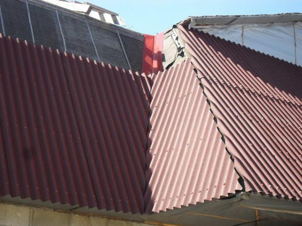 Ондулин поверх старой крыши