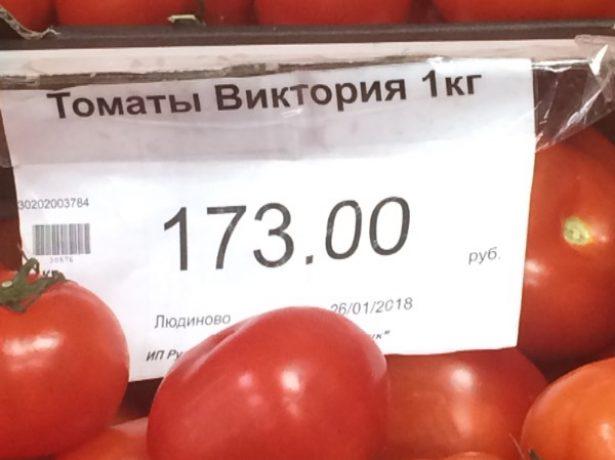 Плоды томата Виктория