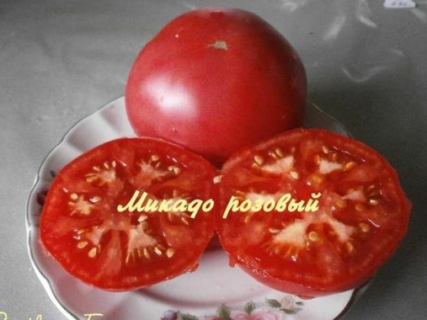 Плоды томата Микадо розовый