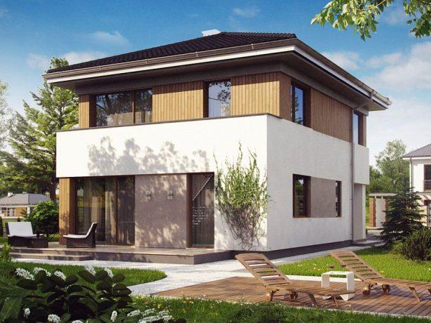 Компактный двухэтажный дом в современном стиле