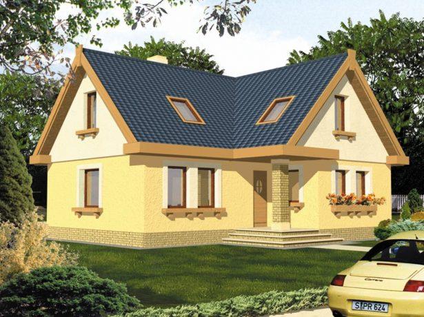 Дом с Г-образной крышей