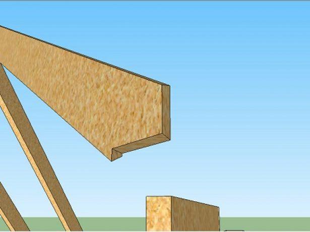 Завершающий этап изготовления углового стропила
