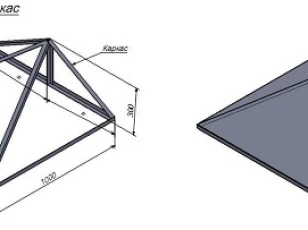 Каркас треугольного ската