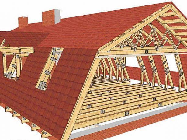Ломаная крыша без вертикальных стоек