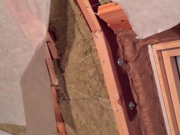 Крепление стропил ломаной крыши без стоек