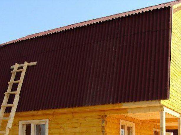 Ломаная крыша под ондулином