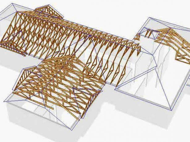 Сложная комбинированная крыша