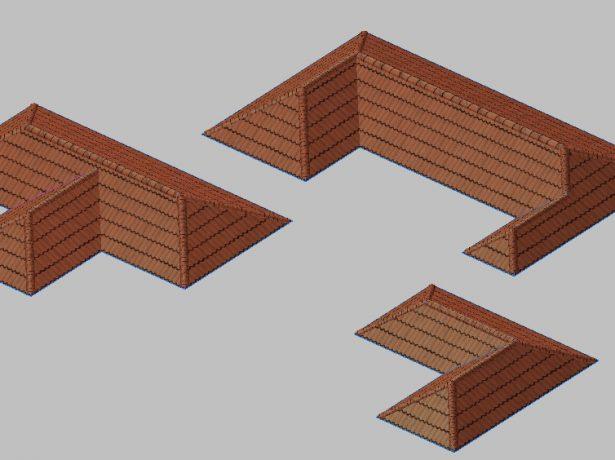 Варианты вальмовой многощипцовой крыши