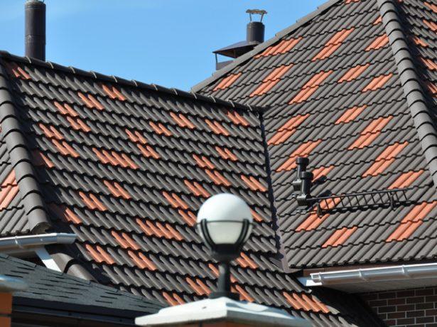 Вальмовая черепичная крыша