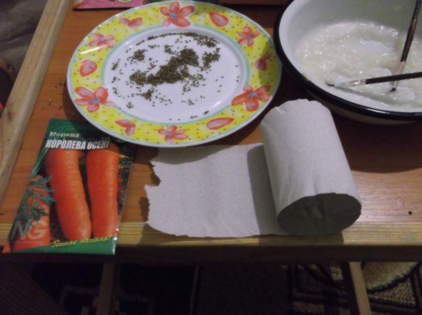 Семена, клейстер и туалетная бумага