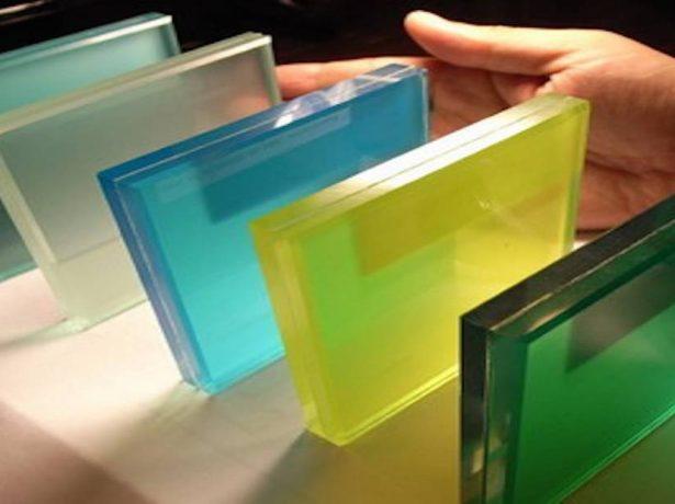 Цветное триплекс-стекло
