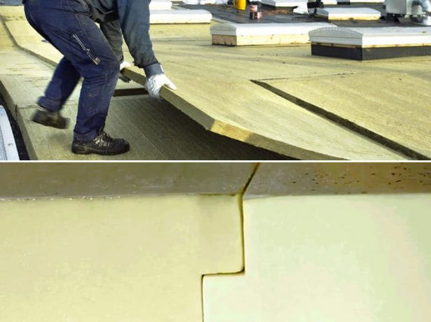 Укладка утеплителя на плоскую крышу