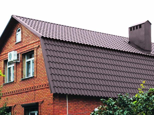 Мансардная крыша двухэтажного дома