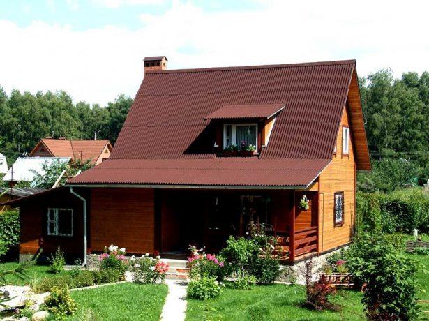 Крыша с внутренним изломом