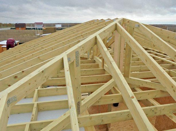 Пример стропильной системы крыши