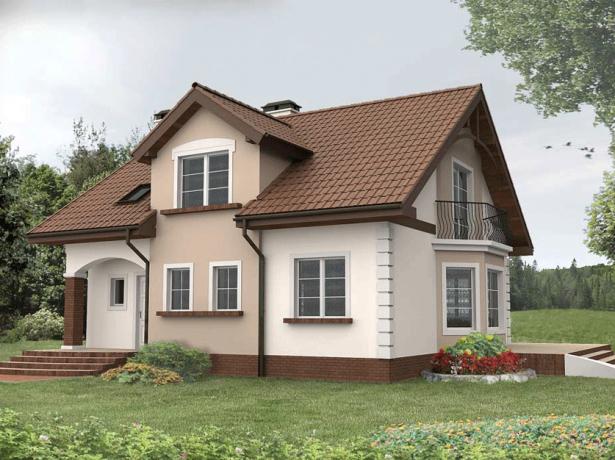 Вариант крыши частного дома