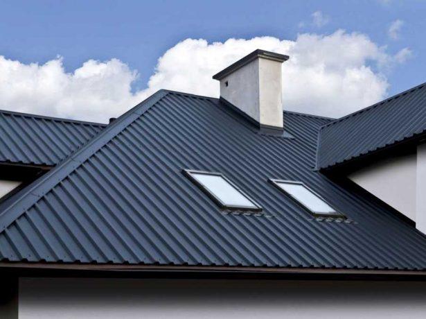 Вариант крыши из профнастила