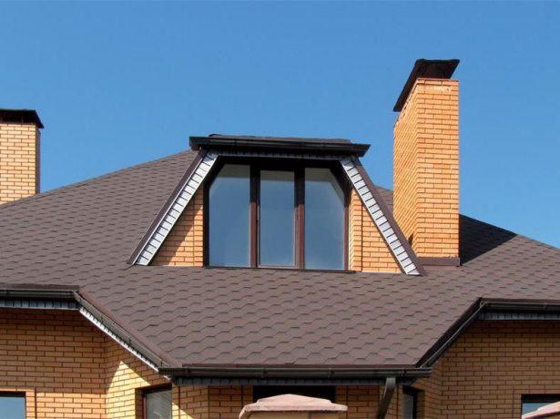 Пример крыши с покрытием из мягкой черепицы