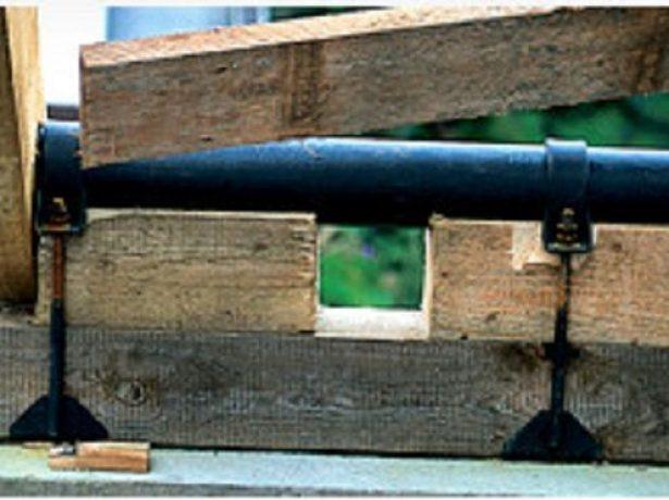 Усиление мауэрлата стальной трубой